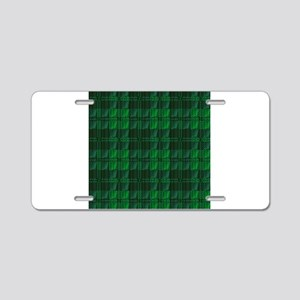Dark Green Tartan Aluminum License Plate