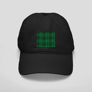 Dark Green Tartan Black Cap