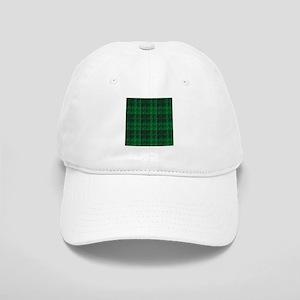 Dark Green Tartan Cap