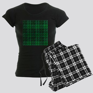 Dark Green Tartan Women's Dark Pajamas