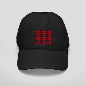 Dark Red Tartan Black Cap