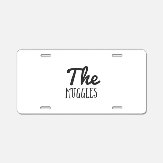 The Muggles Aluminum License Plate