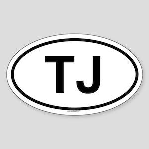 TJ Oval Sticker