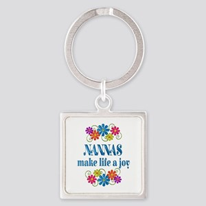 Nanna Joy Square Keychain