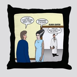 Dracula Phlebotomists Throw Pillow