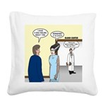 Dracula Phlebotomists Square Canvas Pillow