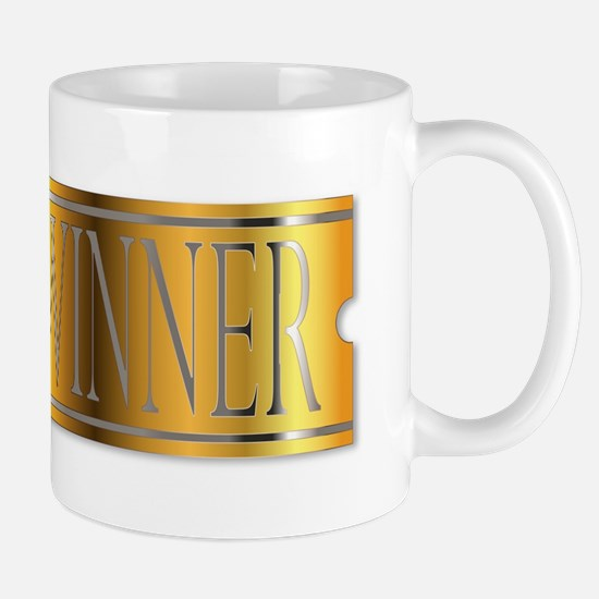 Winner Ticket In Gold Mugs