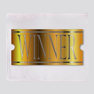 Winner Ticket In Gold Throw Blanket