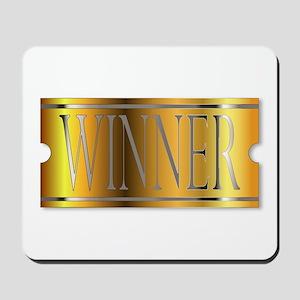Winner Ticket In Gold Mousepad