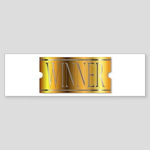 Winner Ticket In Gold Bumper Sticker