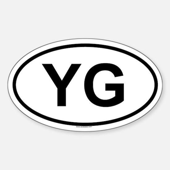 YG Oval Decal
