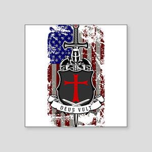 AMERICAN KNIGHT GOD WILLS IT Sticker