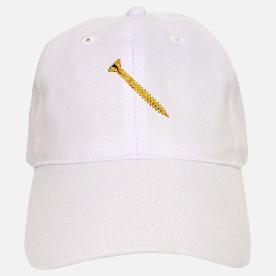 Golden Screw Baseball Baseball Cap
