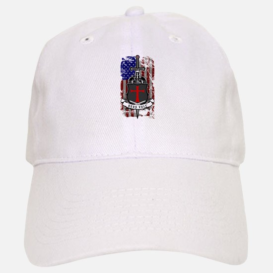 AMERICAN KNIGHT GOD WILLS IT Baseball Baseball Cap