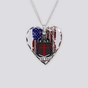 AMERICAN KNIGHT GOD WILLS IT Necklace Heart Charm