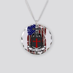 AMERICAN KNIGHT GOD WILLS IT Necklace Circle Charm