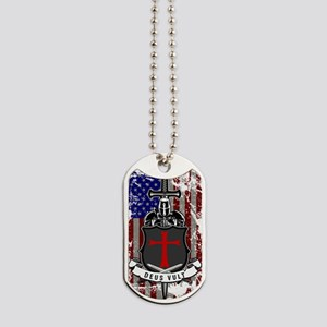 AMERICAN KNIGHT GOD WILLS IT Dog Tags