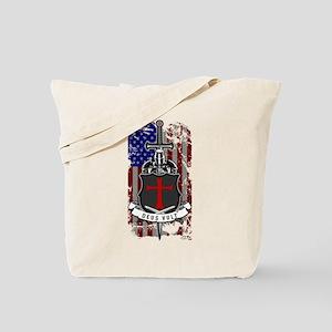 AMERICAN KNIGHT GOD WILLS IT Tote Bag