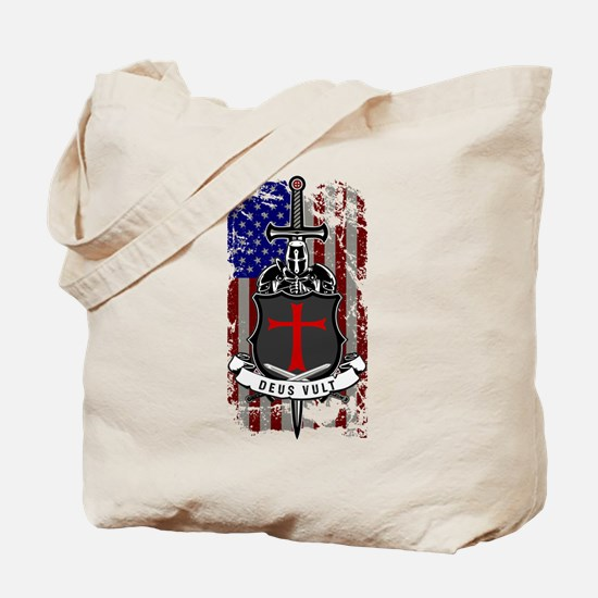 AMERICAN KNIGHT GOD WILLS IT Tote Bag