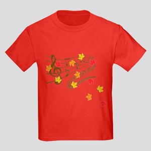 Music and autumn leaves T-Shirt