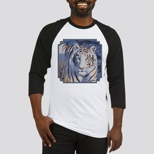 White Tiger with Blue Eyes Baseball Jersey