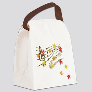 Music and autumn leaves Canvas Lunch Bag