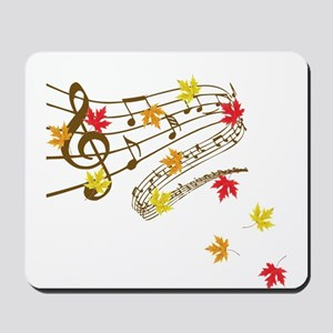 Music and autumn leaves Mousepad