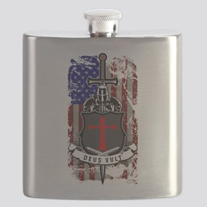 AMERICAN KNIGHT GOD WILLS IT Flask
