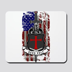 AMERICAN KNIGHT GOD WILLS IT Mousepad