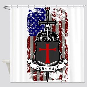 AMERICAN KNIGHT GOD WILLS IT Shower Curtain
