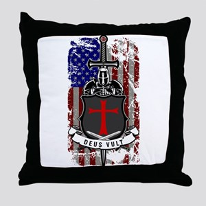 AMERICAN KNIGHT GOD WILLS IT Throw Pillow