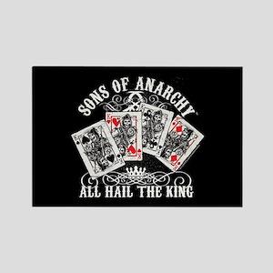 SOA All Hail the King Rectangle Magnet