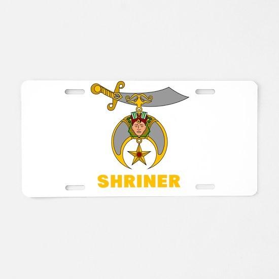SHRINER Aluminum License Plate