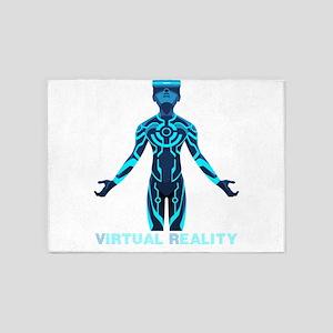 VIRTUAL REALITY VR 5'x7'Area Rug