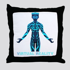 VIRTUAL REALITY VR Throw Pillow