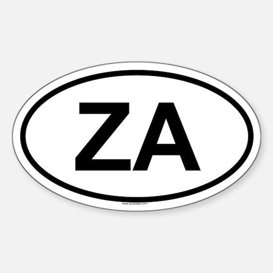 ZA Oval Decal