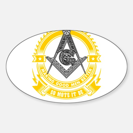FREEMASON - MAKING GOOD MEN BETTER Decal