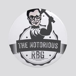 Ruth Bader Ginsburg Union Notorious Round Ornament