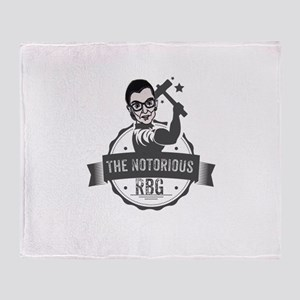 Ruth Bader Ginsburg Union Notorious Throw Blanket