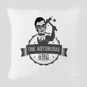 Ruth Bader Ginsburg Union Noto Woven Throw Pillow