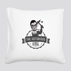 Ruth Bader Ginsburg Union Not Square Canvas Pillow