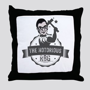 Ruth Bader Ginsburg Union Notorious R Throw Pillow