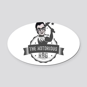 Ruth Bader Ginsburg Union Notoriou Oval Car Magnet
