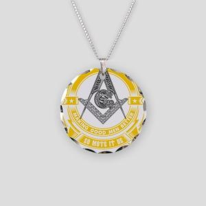FREEMASON - MAKING GOOD MEN Necklace Circle Charm