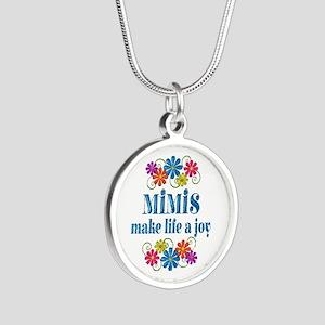 Mimi Joy Silver Round Necklace