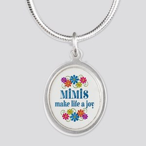 Mimi Joy Silver Oval Necklace