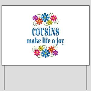 Cousin Joy Yard Sign