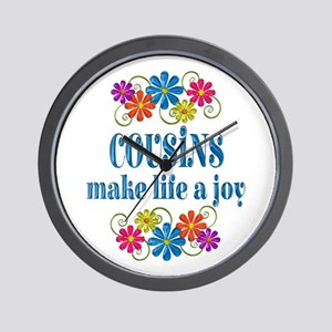 Cousin Joy Wall Clock