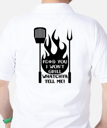 Grilling In The Name Of Golf Shirt