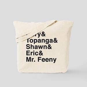 Boy Meets World Character Names Tote Bag